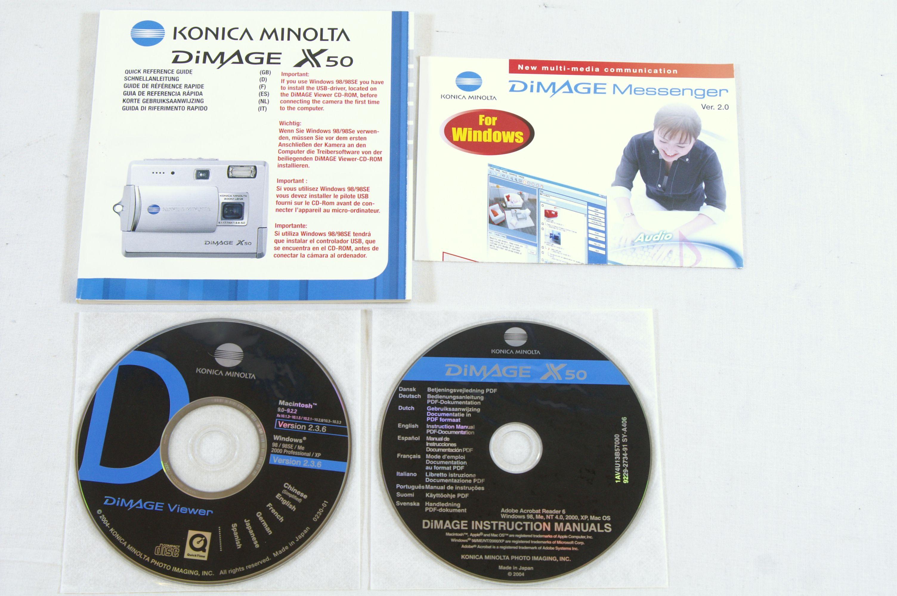 Konica Minolta Dimage X50 5.0MP Digital Camera with SD Card Bundle 8. Open  Full-Size Image