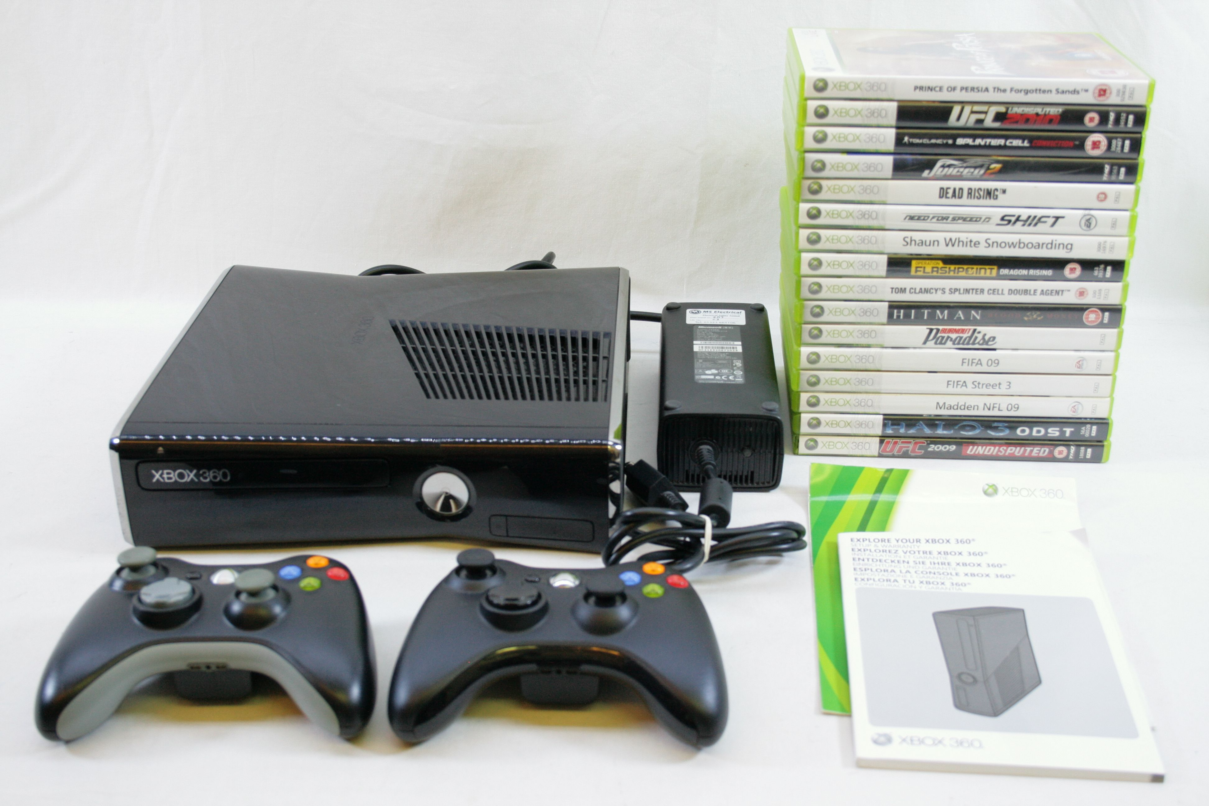 Microsoft Xbox 360 Slim 250 GB Glossy Black Console ...