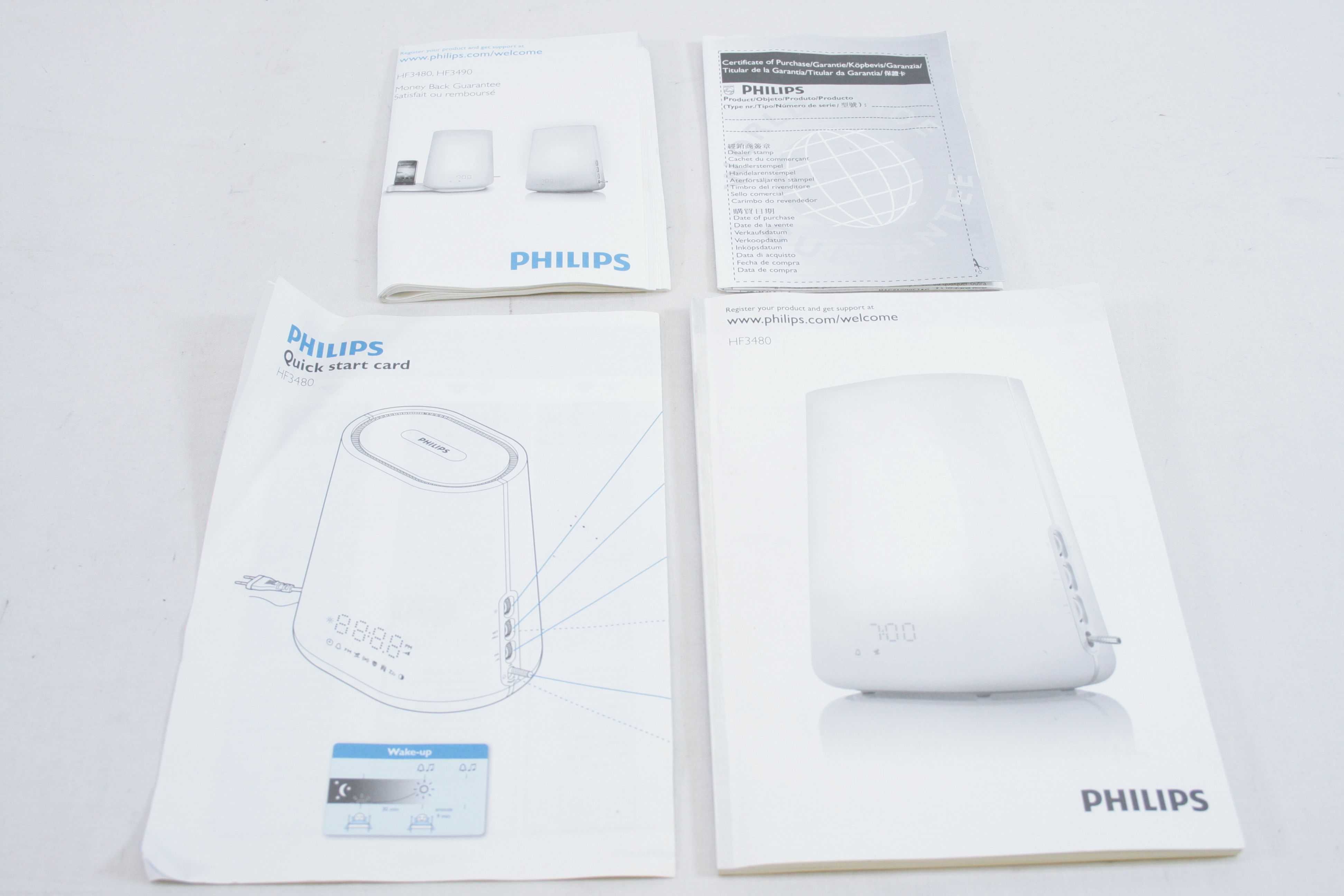 philips wake up light alarm clock manual