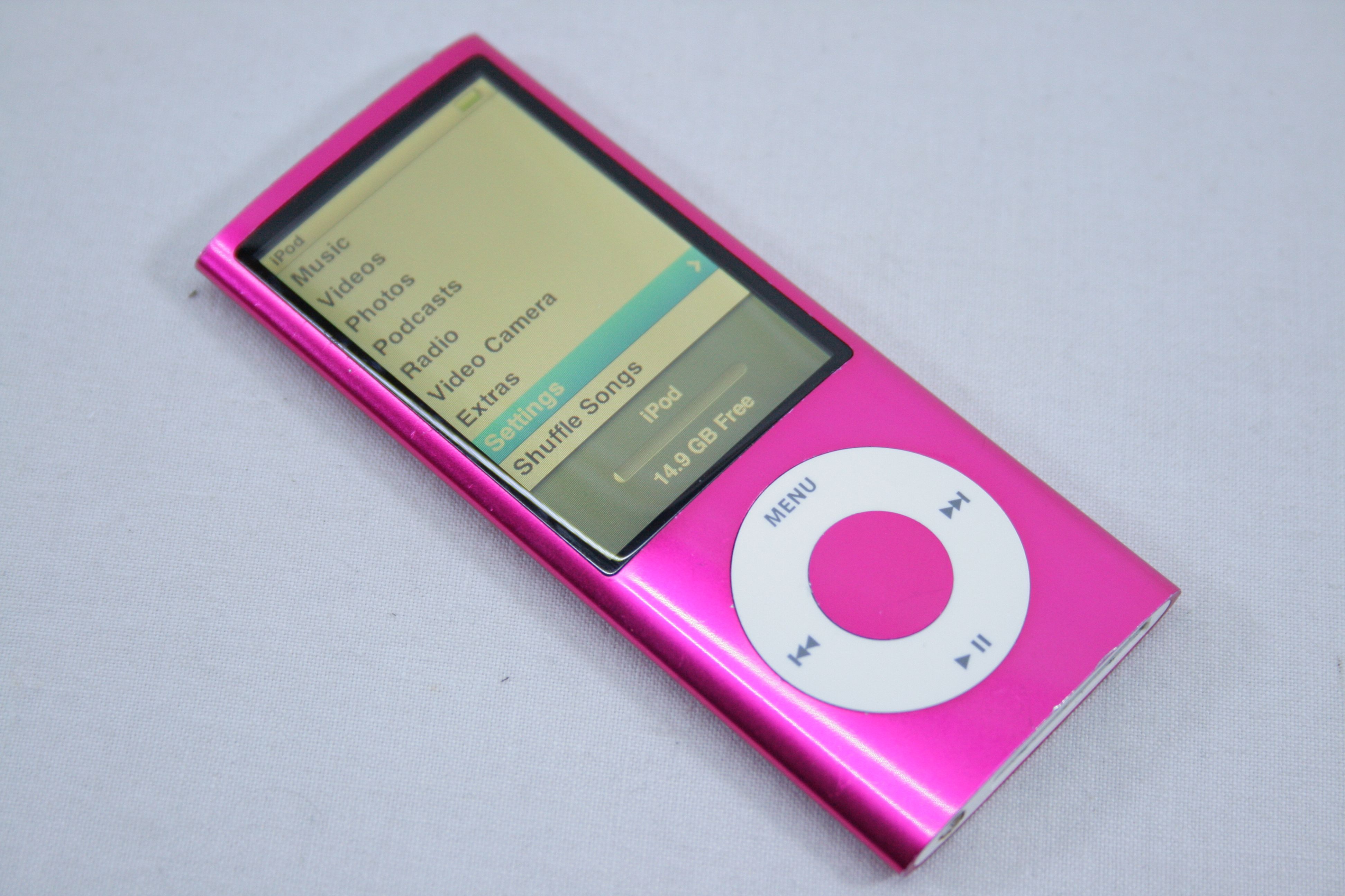 apple ipod nano 5th generation pink 16gb ebay. Black Bedroom Furniture Sets. Home Design Ideas