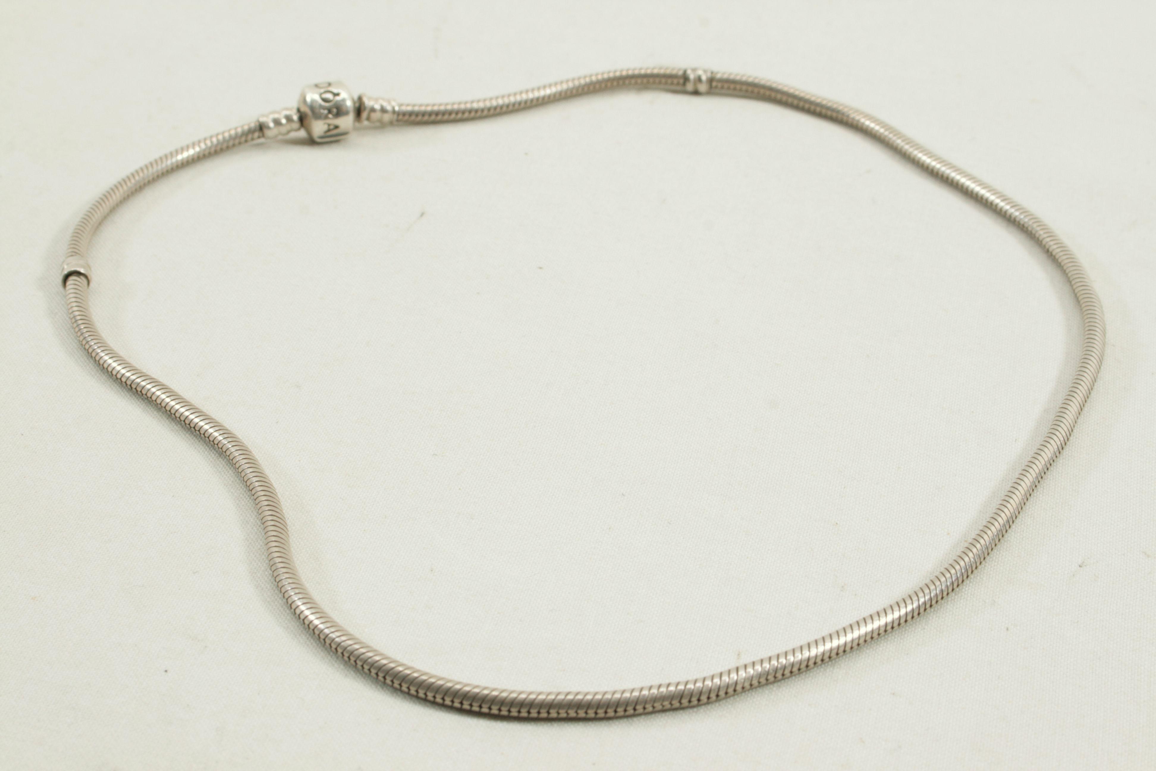 5ced4bbca Genuine Pandora Sterling Silver Charm Necklace - 45cm