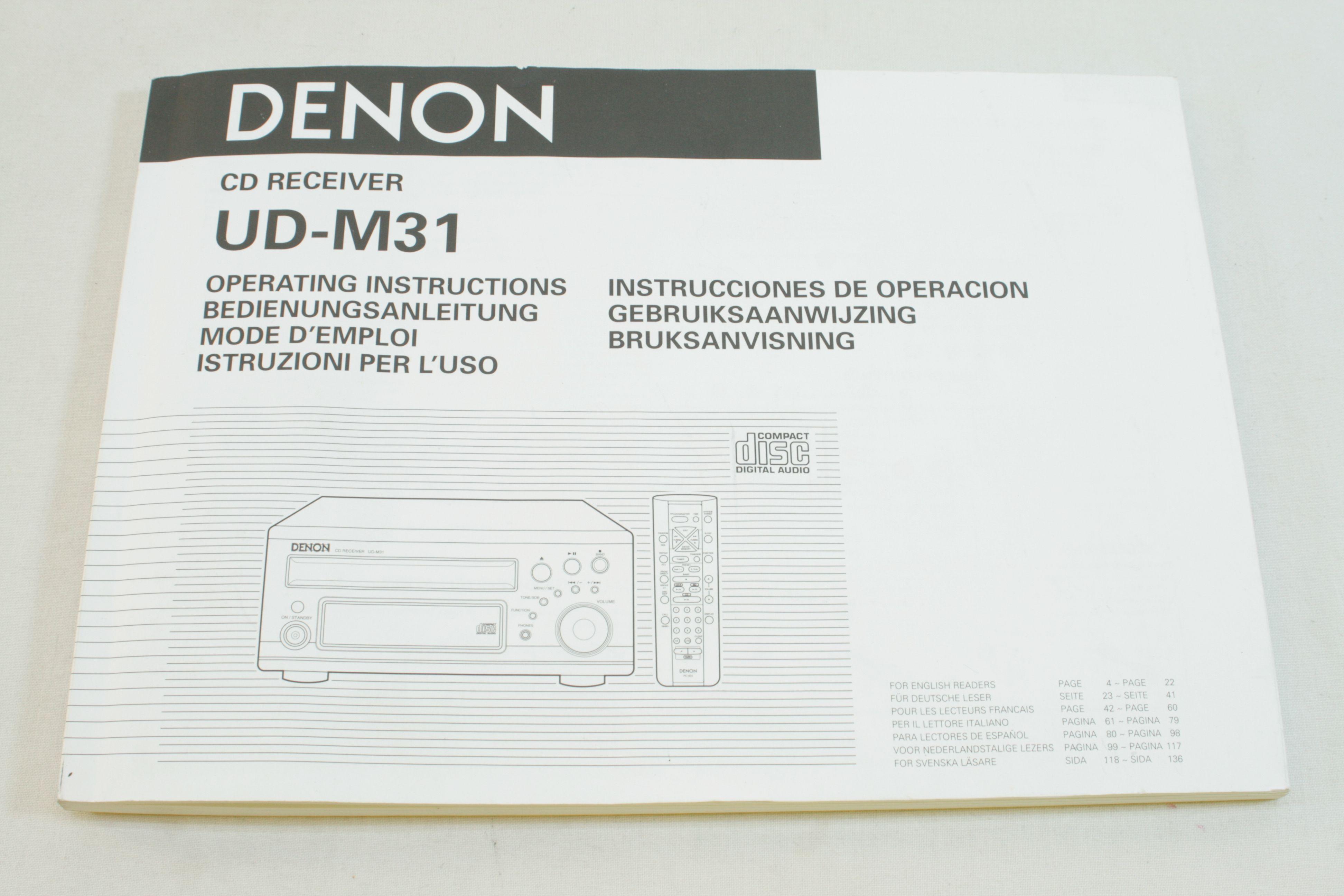 denon ud m31 mini shelf cd receiver player system with remote control rh arhc callcut net M31 through Telescope M31 Gun