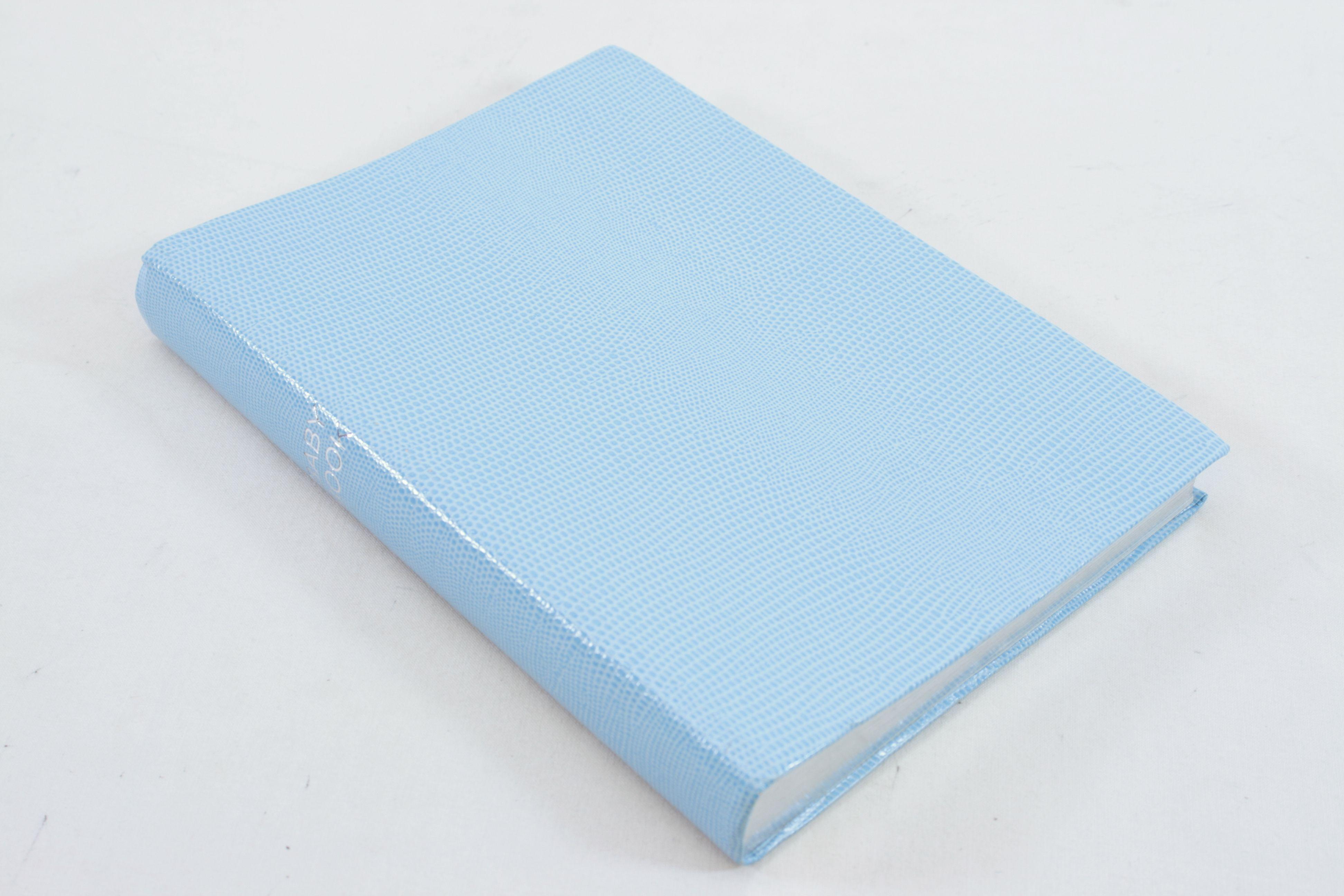 Noble Macmillan A5 Jubilee Portrait Baby Book - Sky Blue