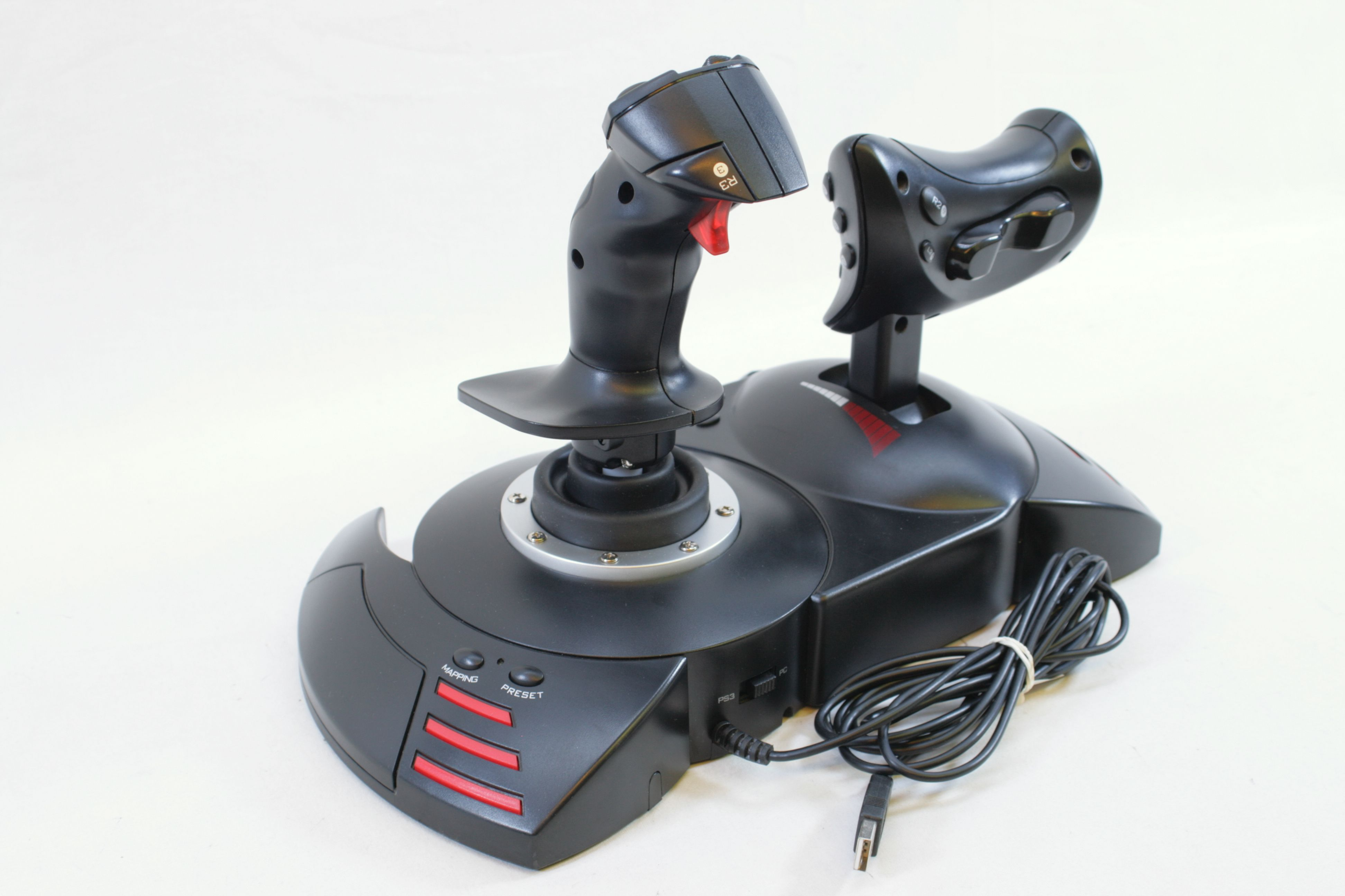 thrustmaster t flight hotas x joystick flight sim pc ps3 ebay. Black Bedroom Furniture Sets. Home Design Ideas
