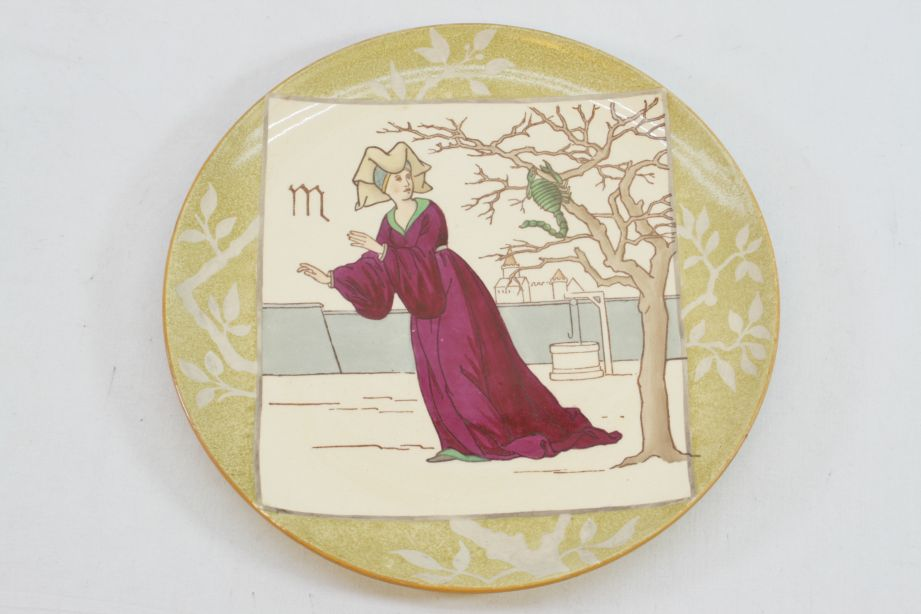 Minton's Pottery Signs of the Zodiac Plate - Scorpio - British Art Pottery