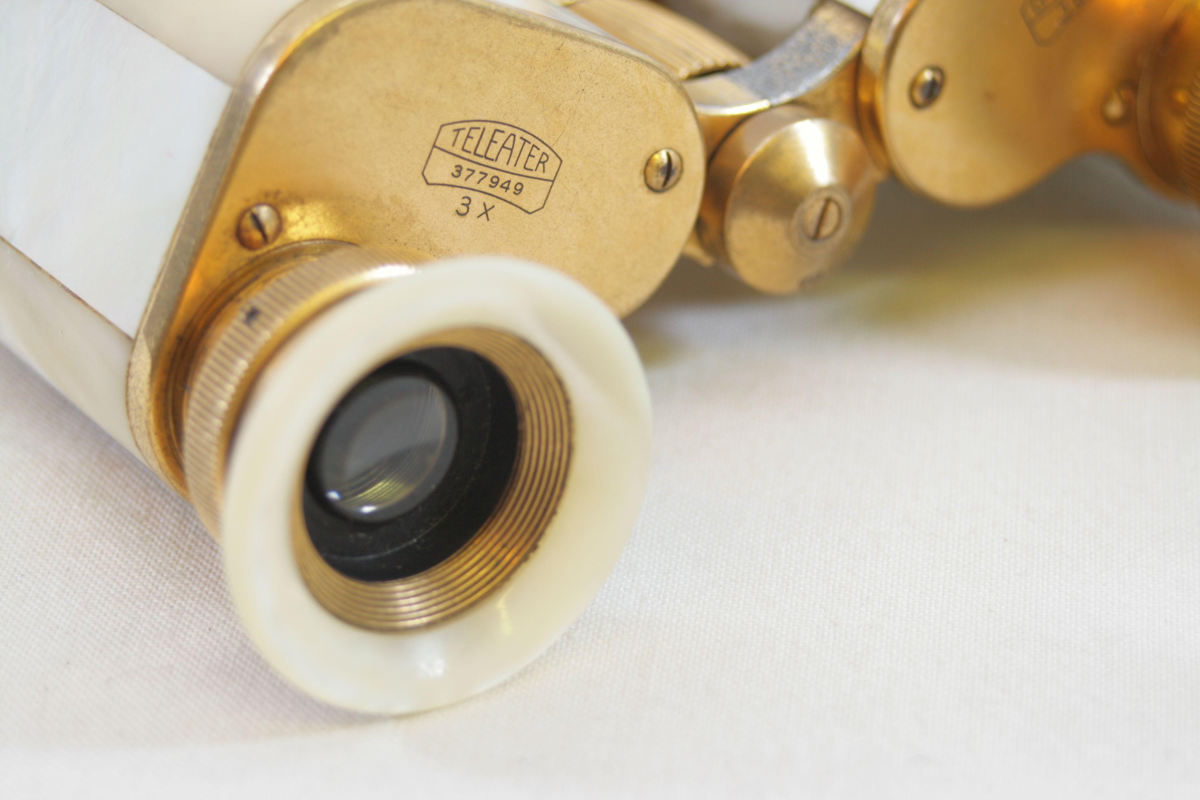 3e353d12c13 Open Full-Size Image. Carl Zeiss Jena Teleater 3 x 13.5 Prismatic Pearl  Opera Glasses   Binoculars 8