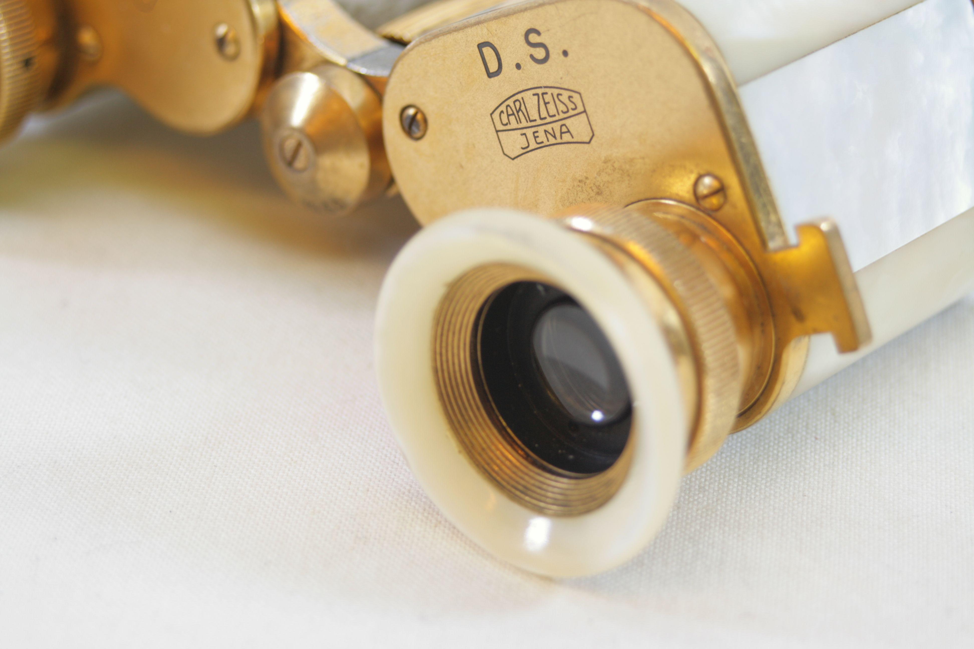 57b2f65a387 Open Full-Size Image. Carl Zeiss Jena Teleater 3 x 13.5 Prismatic Pearl  Opera Glasses   Binoculars 9