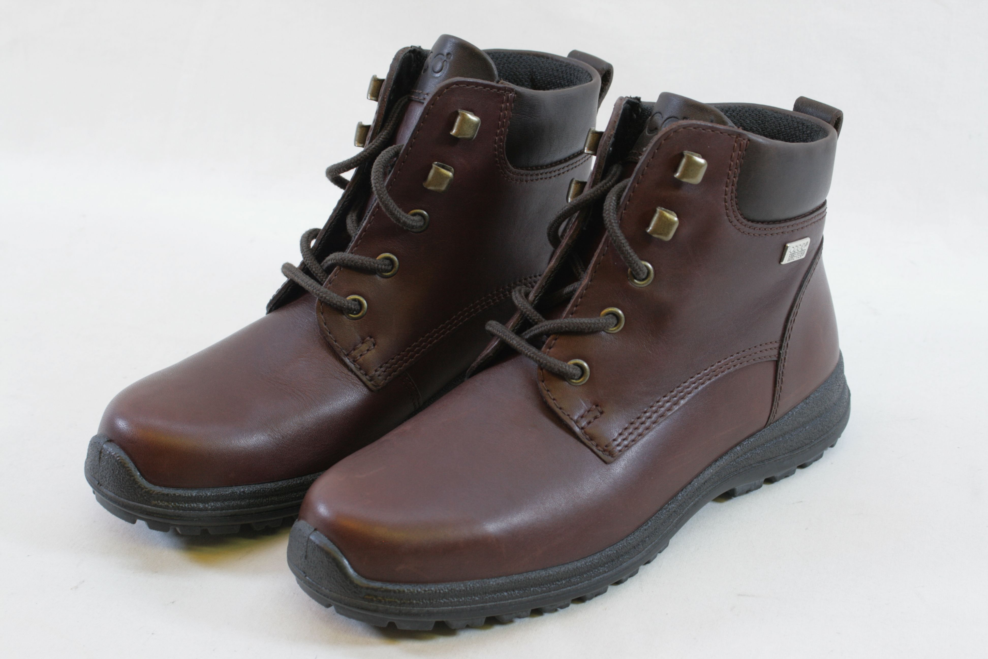 350d1220539 Womens Ecco Gore-Tex Brown Leather Ankle Boots - Size UK 6 EU 39 1. Open  Full-Size Image