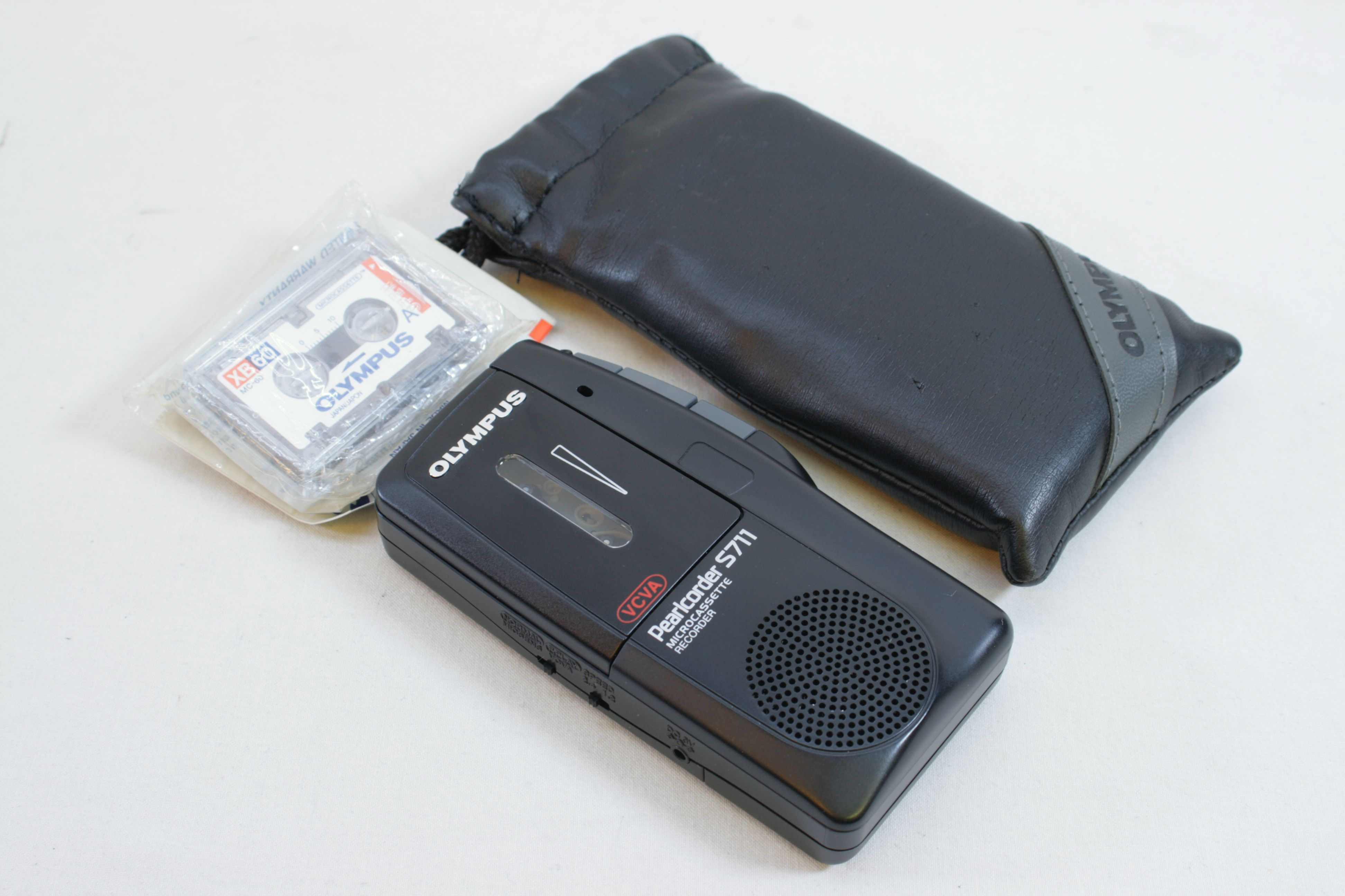 Olympus Pearlcorder S711 Microcassette Handheld Voice Recorder Dictaphone