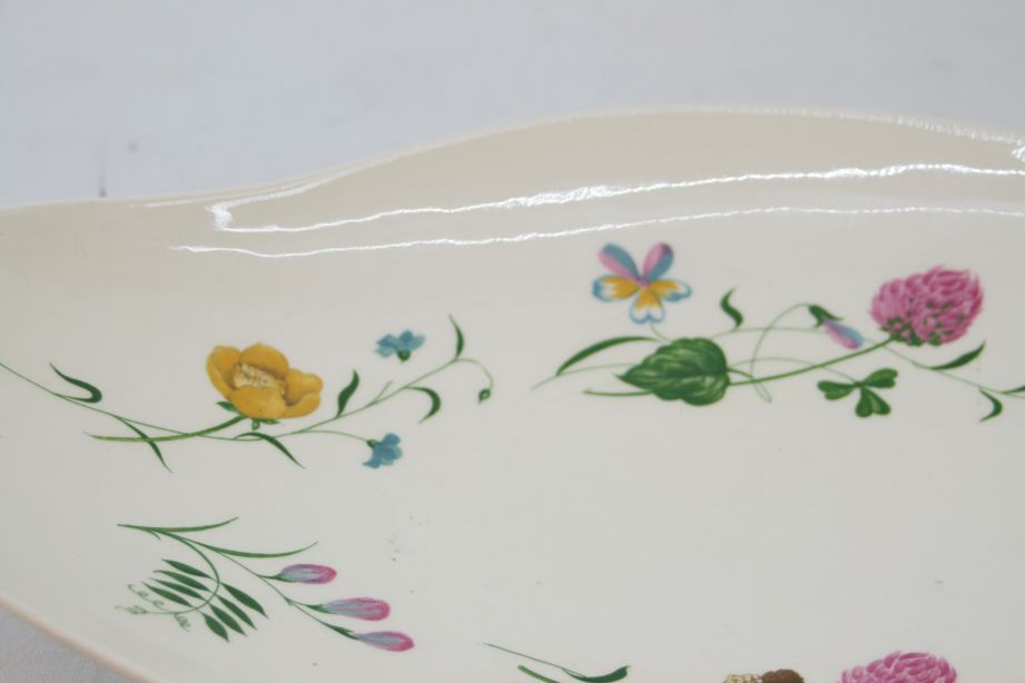 Royal Staffordshire Clarice Cliff Wild Beauty Oval Serving Dish / Plate Pair 5