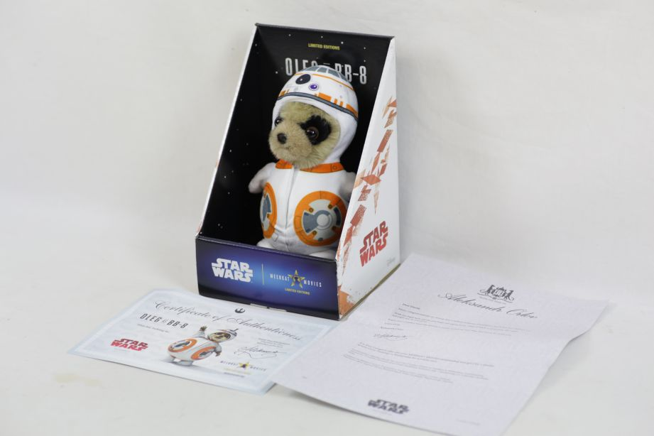 Limited Edition Oleg as BB-8 Star Wars Meerkat - Boxed with Certificate