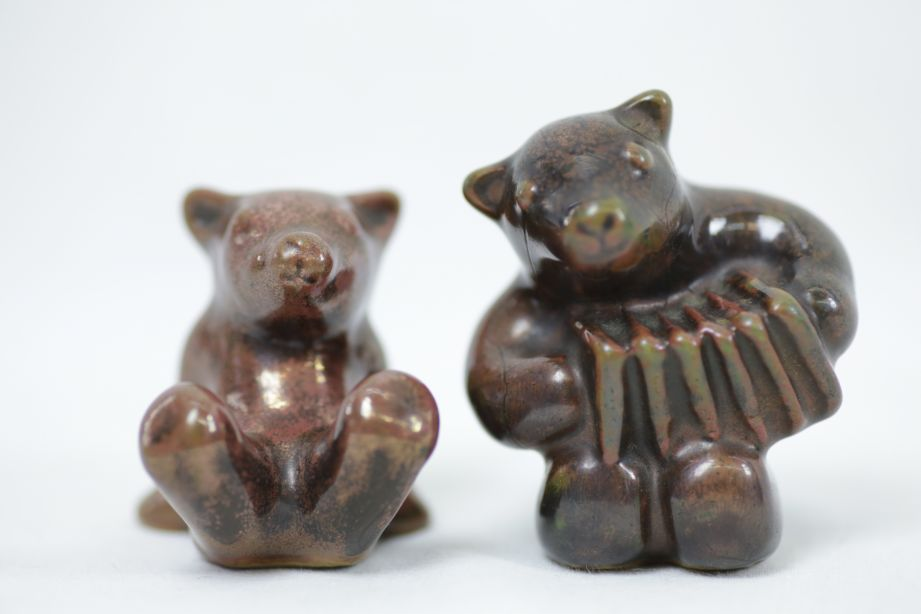 Pair of Vintage L. Hjorth Bear Musicians / Orchestra Figurines 5