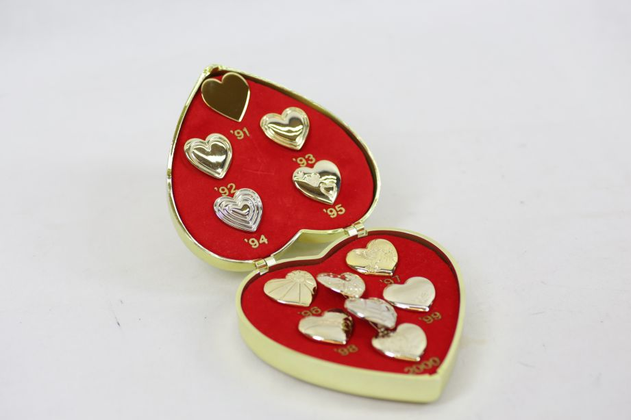 Variety Club Gold Heart Day Pin Collection 1991-2000 & 2003 & 2005