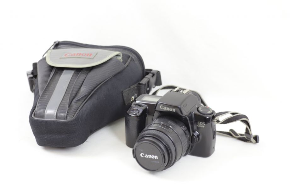 Canon EOS 1000F 35mm SLR Film Camera with Sigma 35-80mm f/4-5.6 Lens