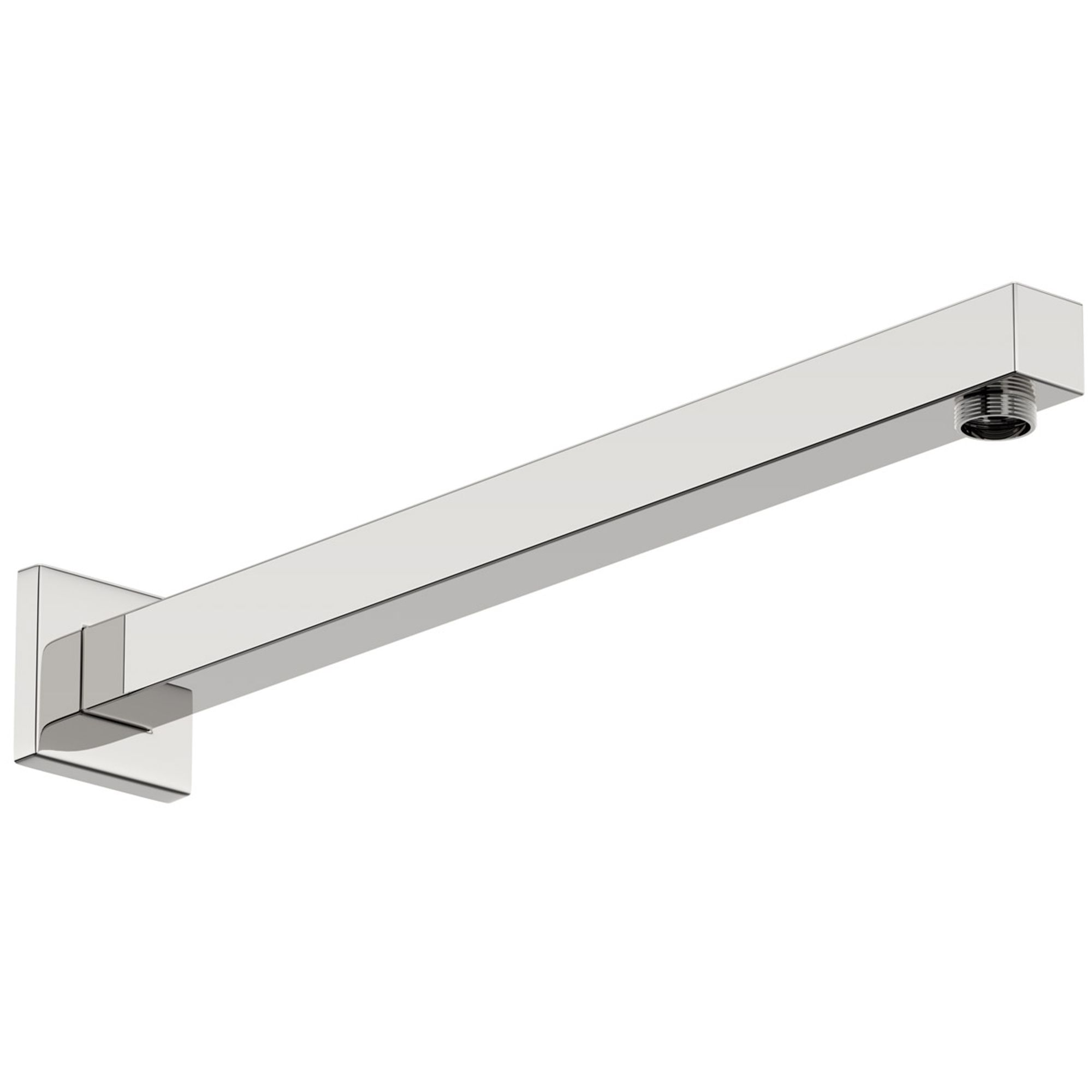 Square Wall Shower Arm 400mm - Chrome Finish