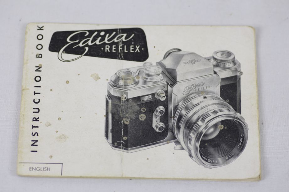 Wirgin Edixa Reflex-B SLR Film Camera with 50mm f/2.8 Prime Lens M42 Screw Mount 21