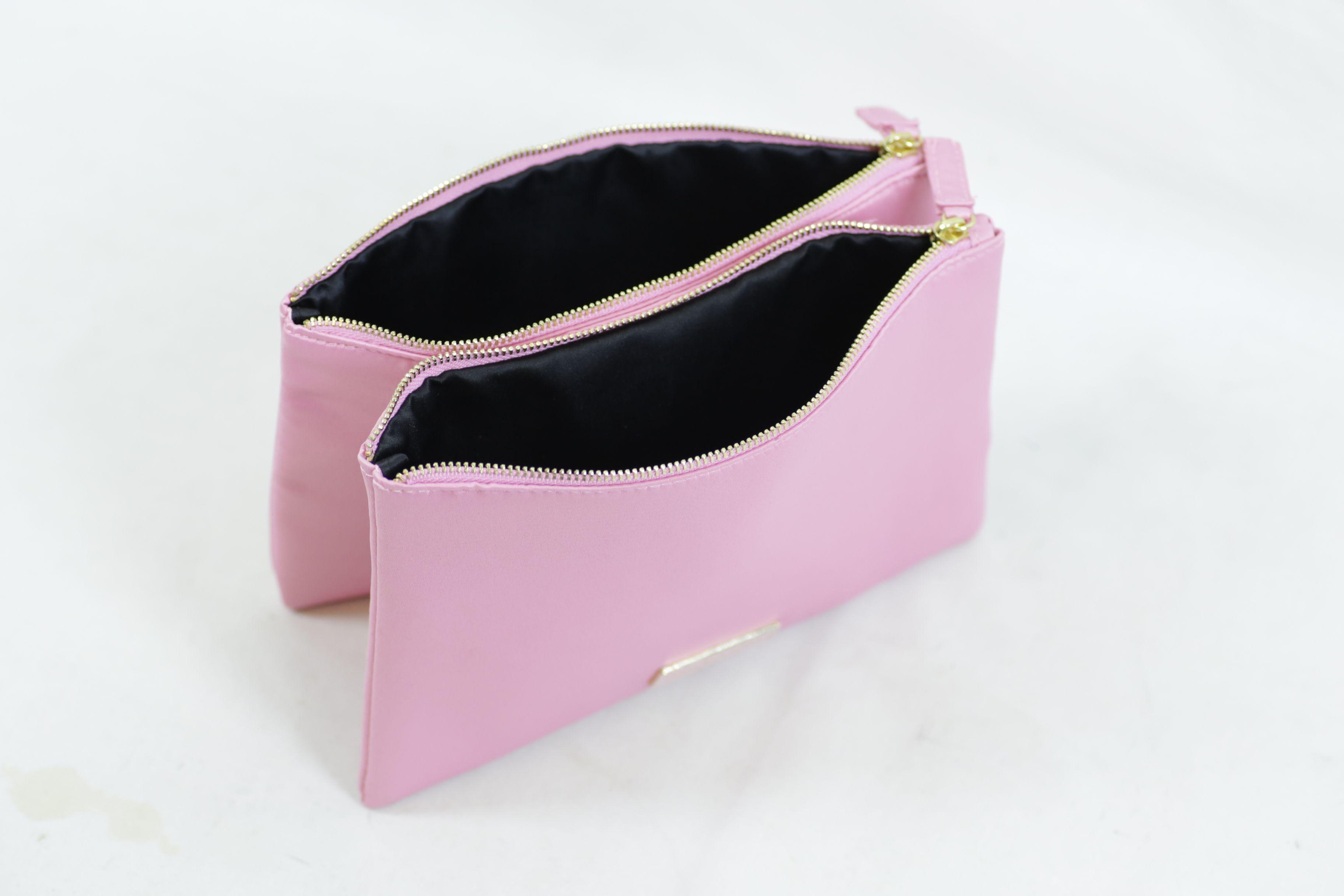 Prada Candy Pink Cosmetic Makeup Travel Case Bag