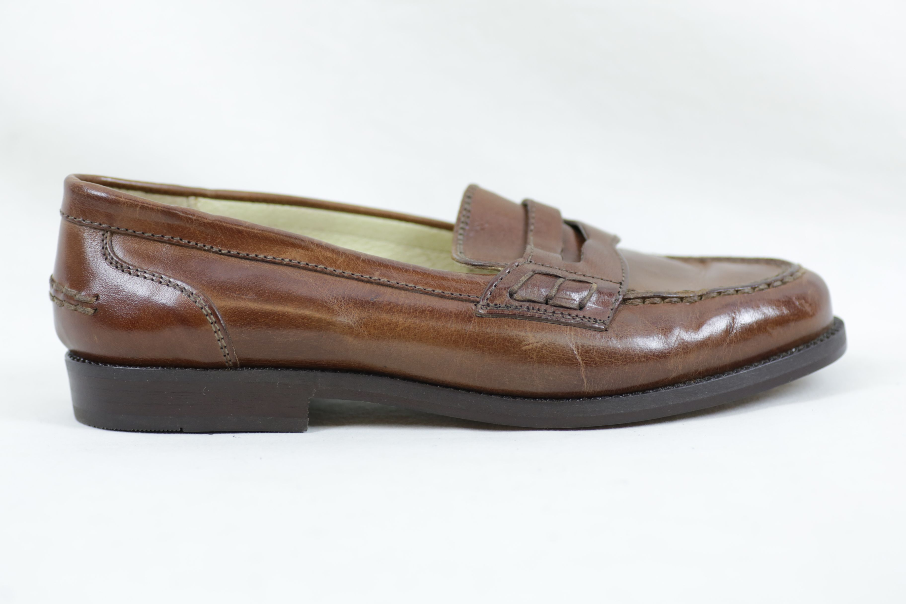 Bally Brim Classic Mid Brown Leather Shoes / Loafers - Size EU 36.5 UK 3.5 10