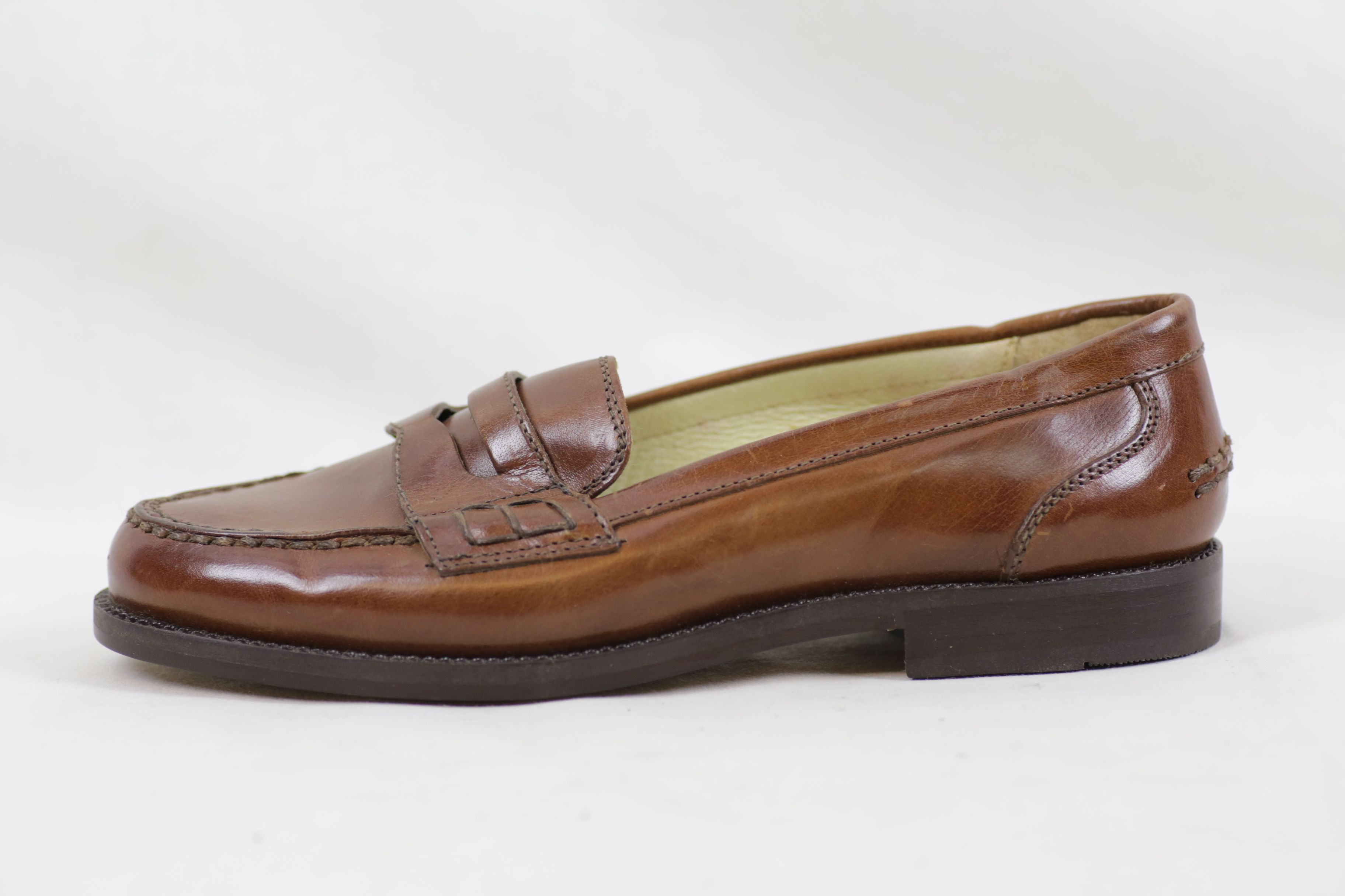 Bally Brim Classic Mid Brown Leather Shoes / Loafers - Size EU 36.5 UK 3.5 3