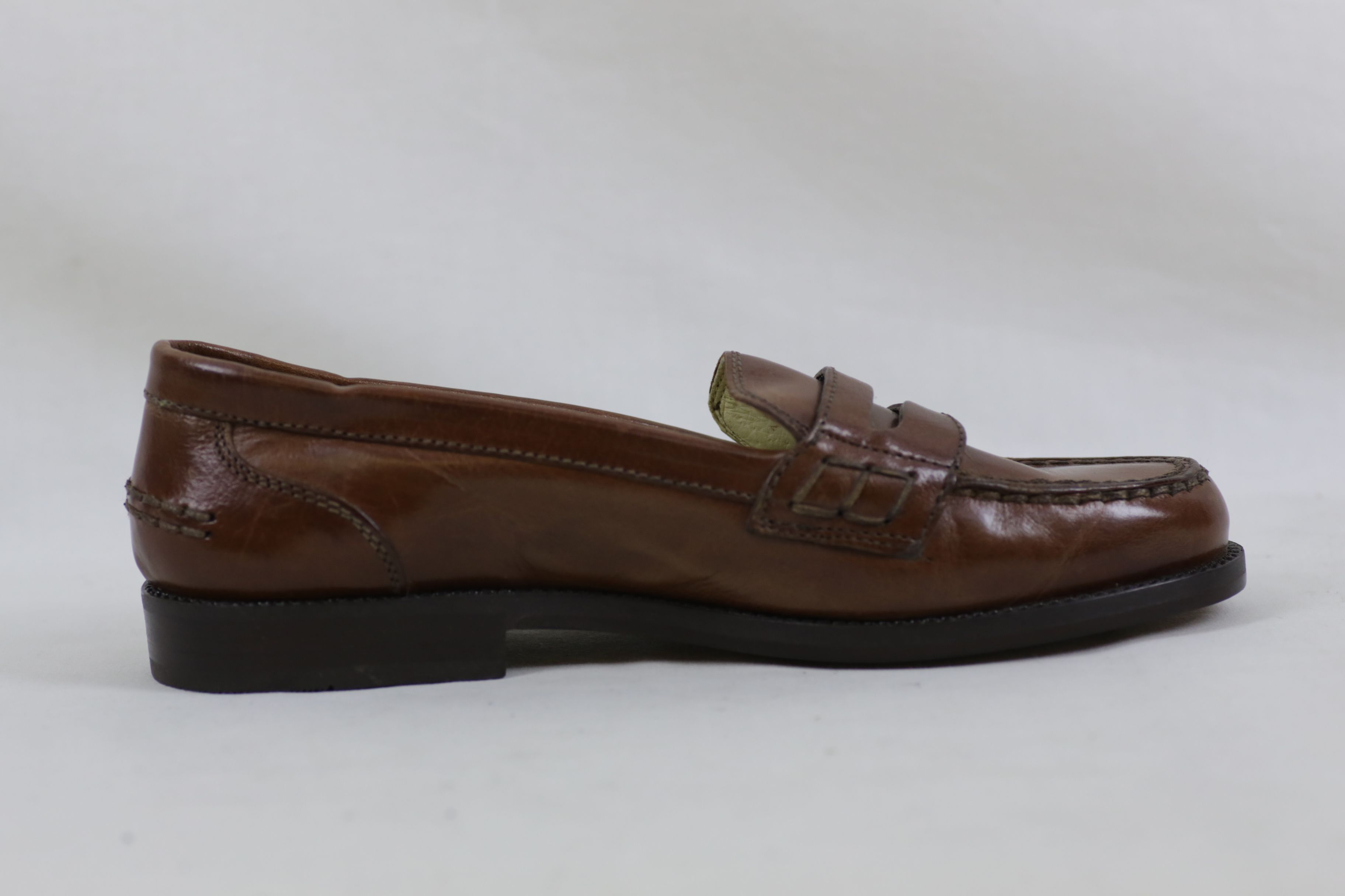 Bally Brim Classic Mid Brown Leather Shoes / Loafers - Size EU 36.5 UK 3.5 5