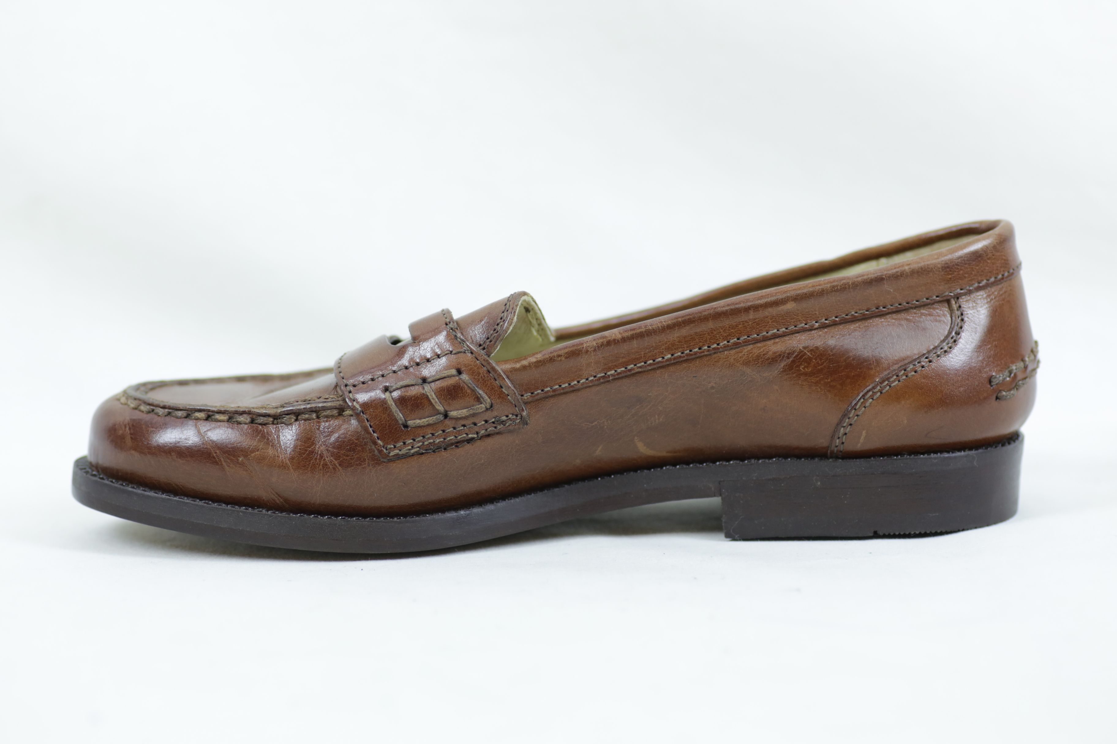 Bally Brim Classic Mid Brown Leather Shoes / Loafers - Size EU 36.5 UK 3.5 8