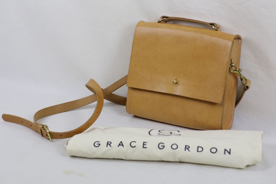 Grace Gordon Lucy Tanned Leather Cross-Body Satchel Bag