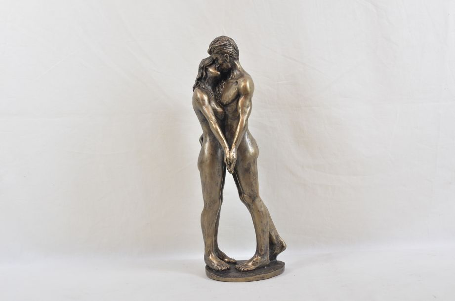 """Frith Sculpture """"The Kiss"""" by Bryan Collins in Cold Cast Bronze - BC003 2"""