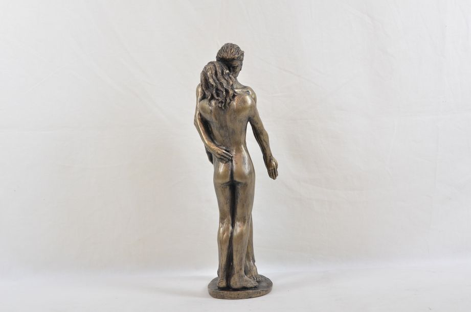 """Frith Sculpture """"The Kiss"""" by Bryan Collins in Cold Cast Bronze - BC003 3"""