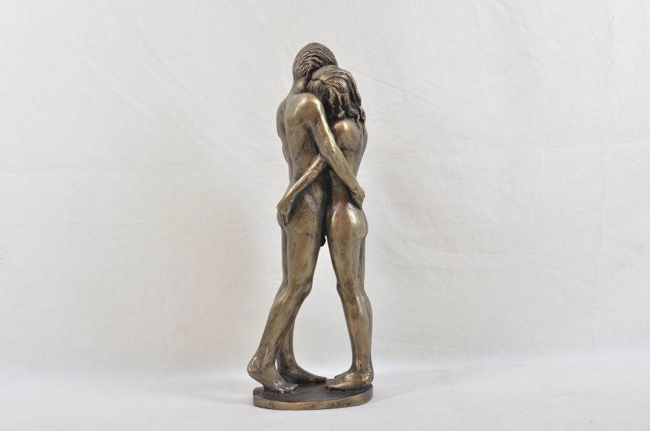 """Frith Sculpture """"The Kiss"""" by Bryan Collins in Cold Cast Bronze - BC003 4"""
