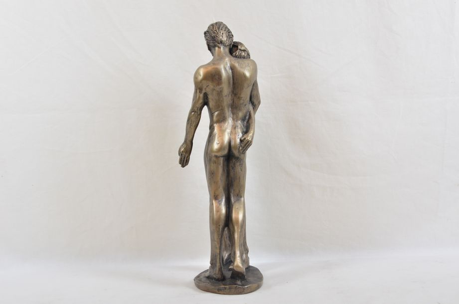 """Frith Sculpture """"The Kiss"""" by Bryan Collins in Cold Cast Bronze - BC003 5"""