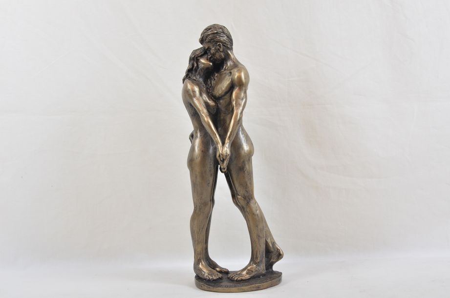 """Frith Sculpture """"The Kiss"""" by Bryan Collins in Cold Cast Bronze - BC003 6"""