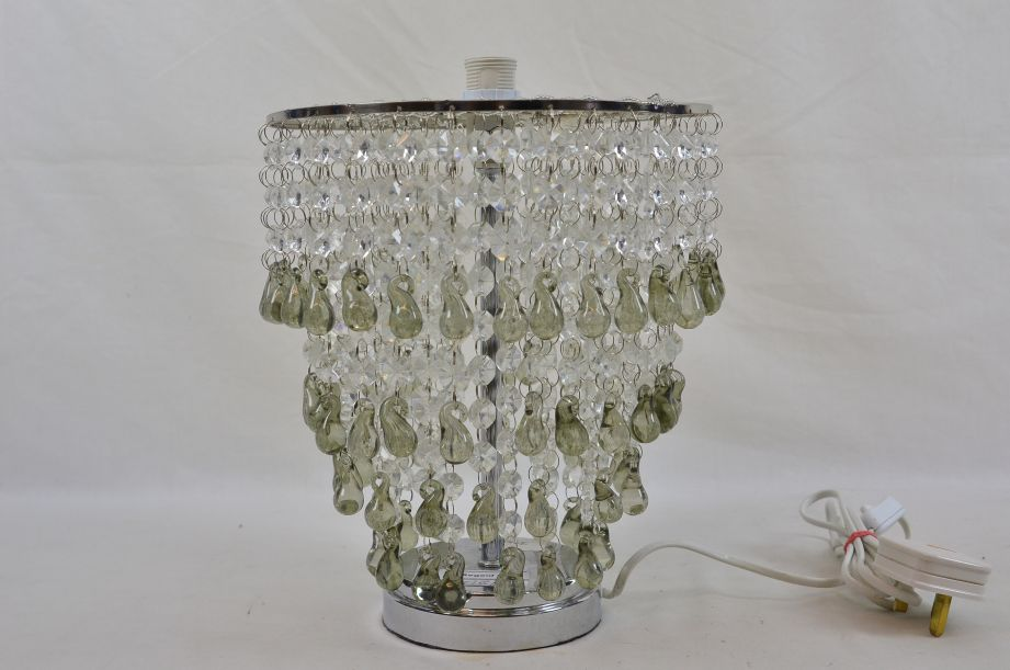 Laura Ashley Glass Droplet Chandelier Lamp Shade