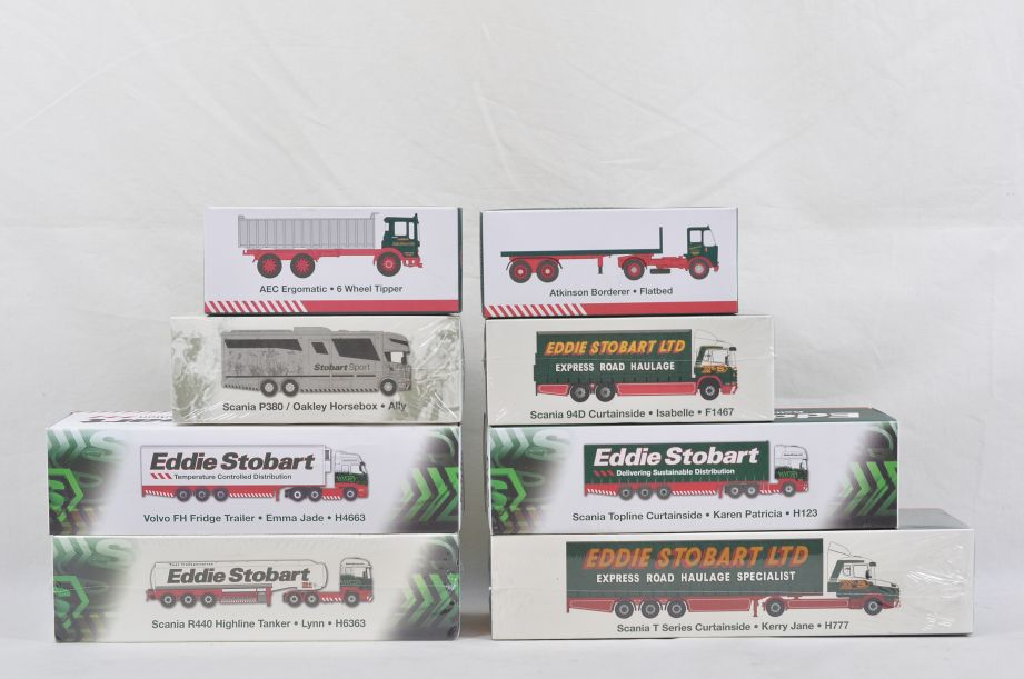 Atlas Edition Eddie Stobart 8 Assorted Diecast Lorries​
