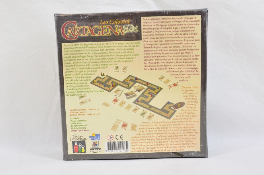 Cartagena Board Game Rio Grande Leo Colovini Venice Connection 1st Edition 2