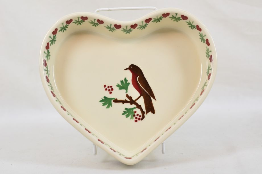 Emma Bridgewater Kitchen Kit Christmas Joy Robin Heart Baker Dish/Bowl 1