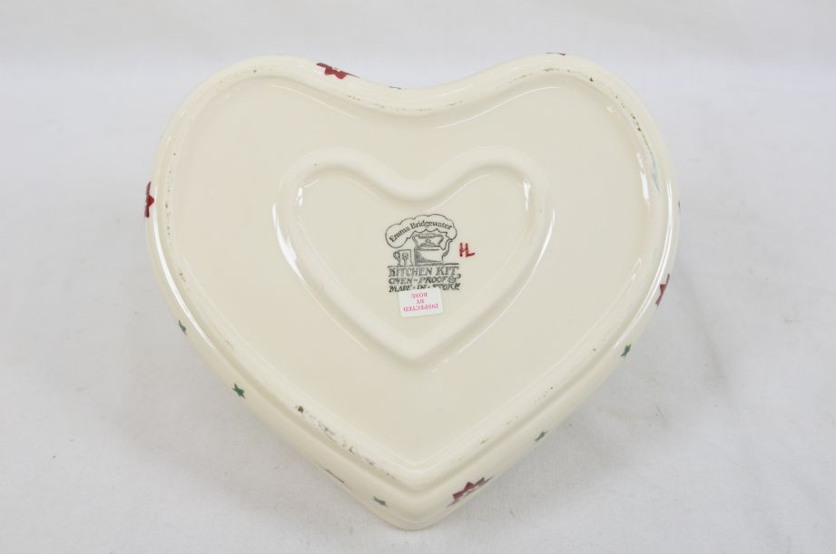Emma Bridgewater Kitchen Kit Christmas Joy Robin Heart Baker Dish/Bowl 2