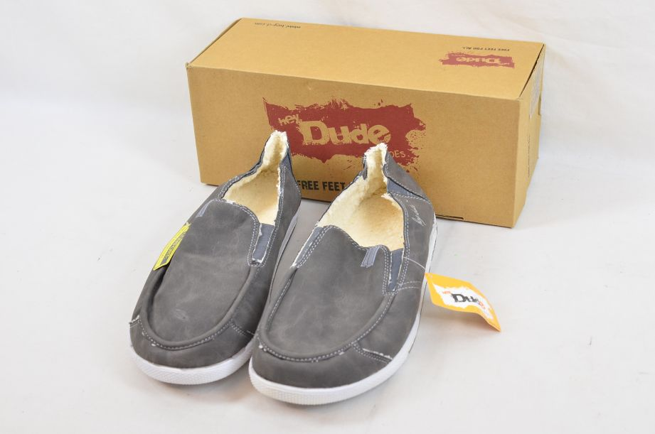 Hey Dude Gus Winter Charcoal UK Size 11 1