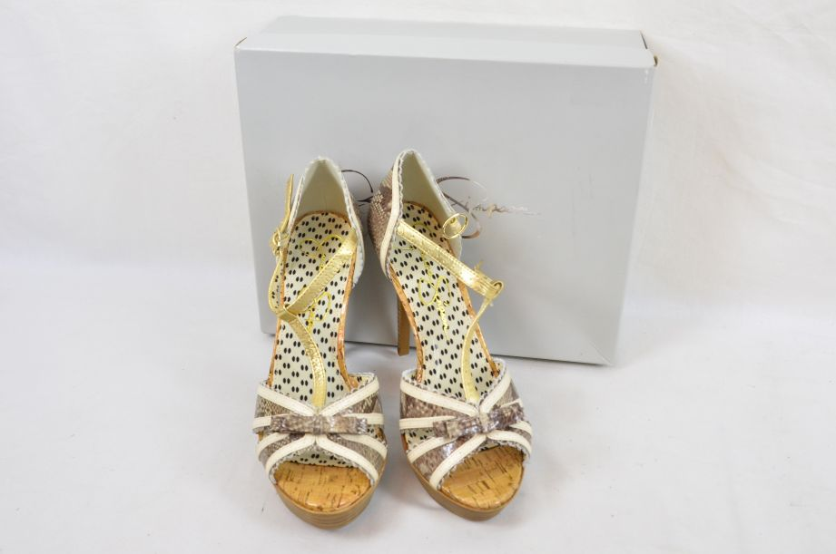 Jessica Simpson Britt Brown Snake Print Summer UK Size 6