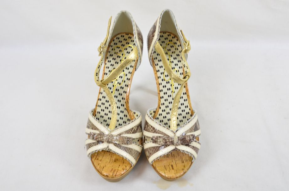 Jessica Simpson Britt Brown Snake Print Summer UK Size 6 2