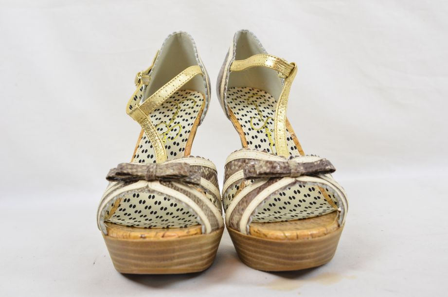Jessica Simpson Britt Brown Snake Print Summer UK Size 6 3