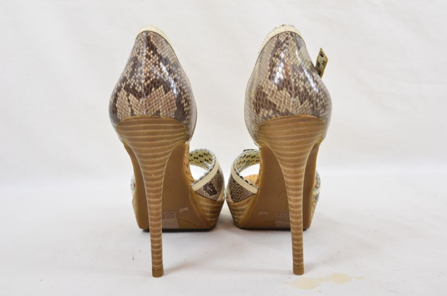 Jessica Simpson Britt Brown Snake Print Summer UK Size 6 4