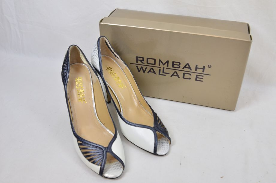 Rombah Wallace Lliona White Black Size 7 Fit C