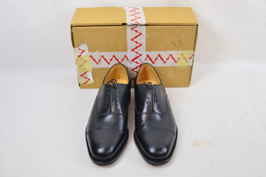 Shoes Service Black Leather With Toe Cap HM Armed Forces Size 7 Fit L