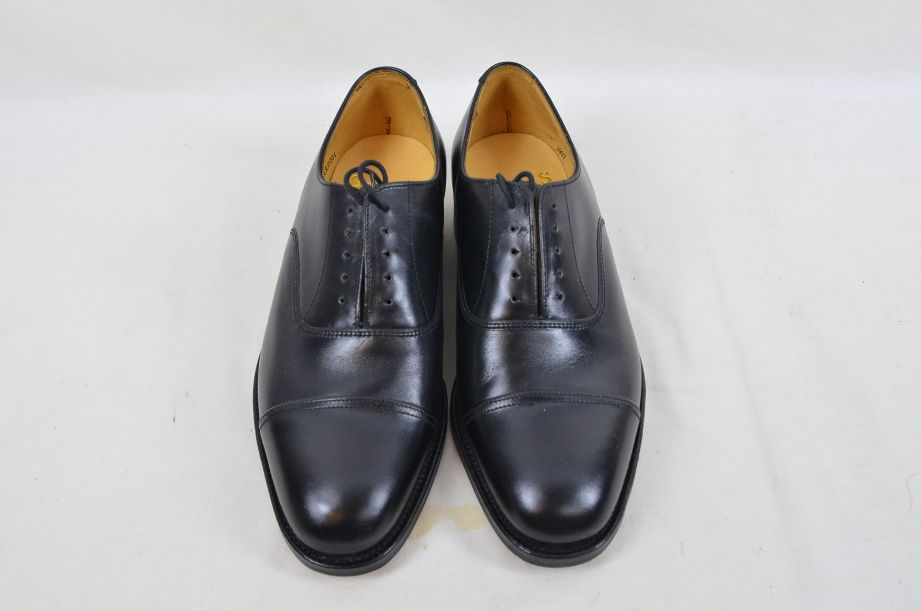 Shoes Service Black Leather With Toe Cap HM Armed Forces Size 7 Fit L 2