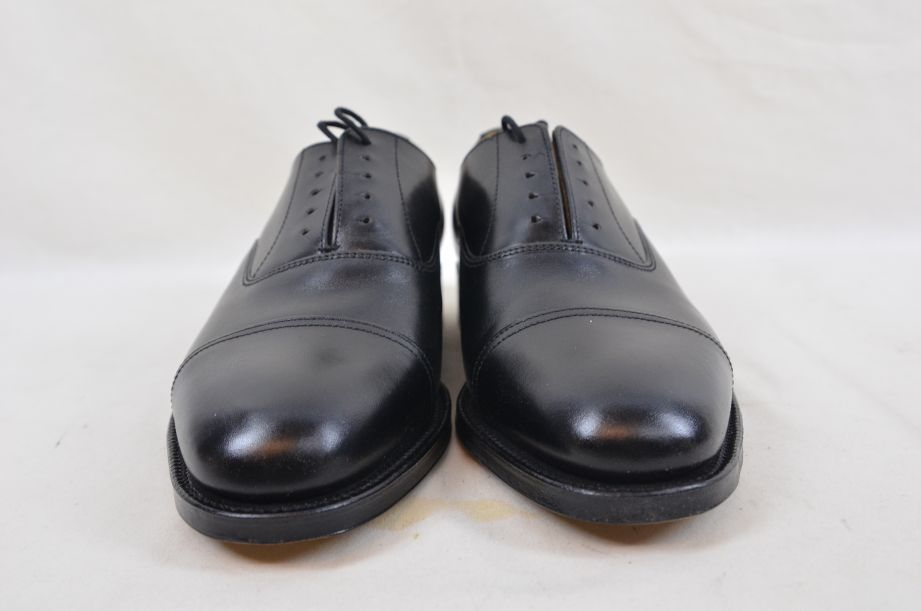 Shoes Service Black Leather With Toe Cap HM Armed Forces Size 7 Fit L 3