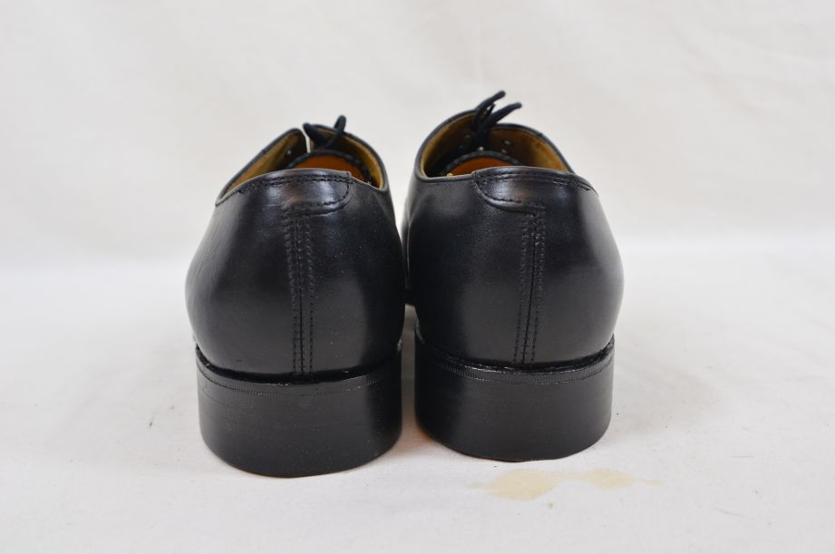 Shoes Service Black Leather With Toe Cap HM Armed Forces Size 7 Fit L 4