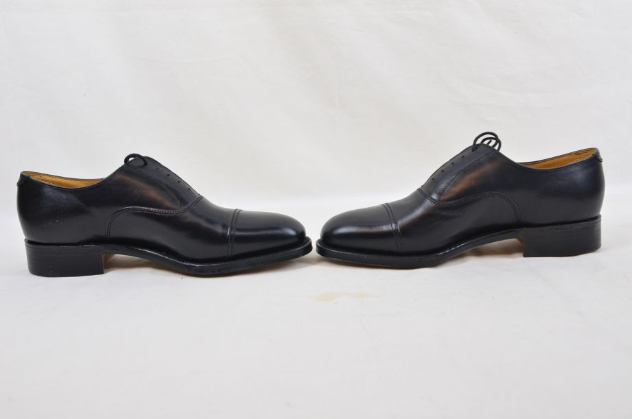 Shoes Service Black Leather With Toe Cap HM Armed Forces Size 7 Fit L 5
