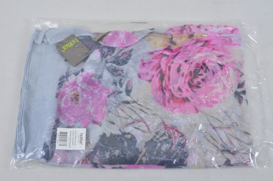 Hotter Scarf Grey Floral Blossom Style 1