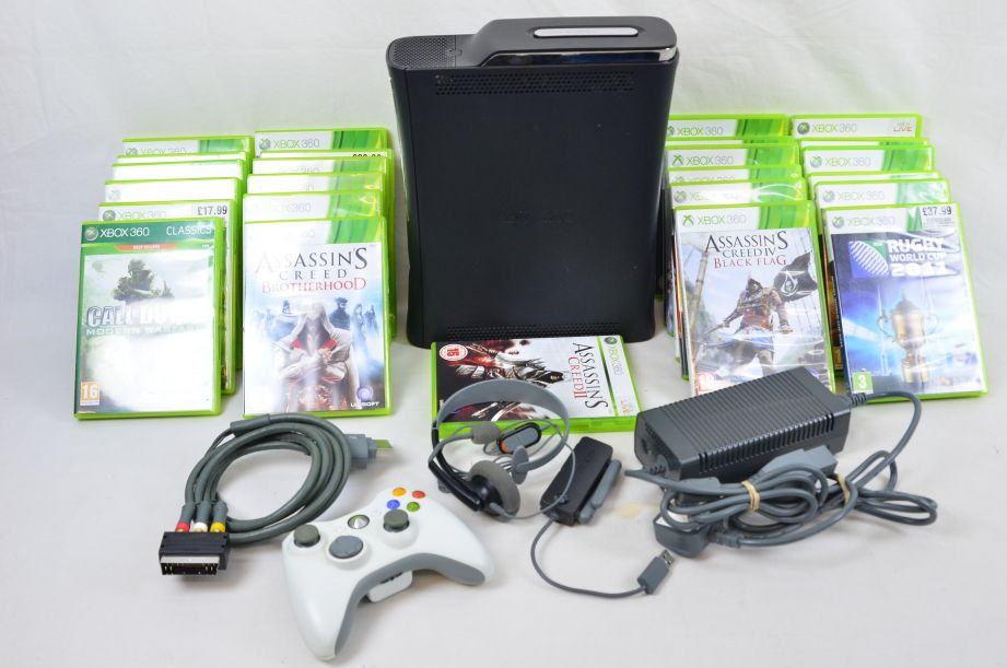 Microsoft Xbox 360 With 25 Games