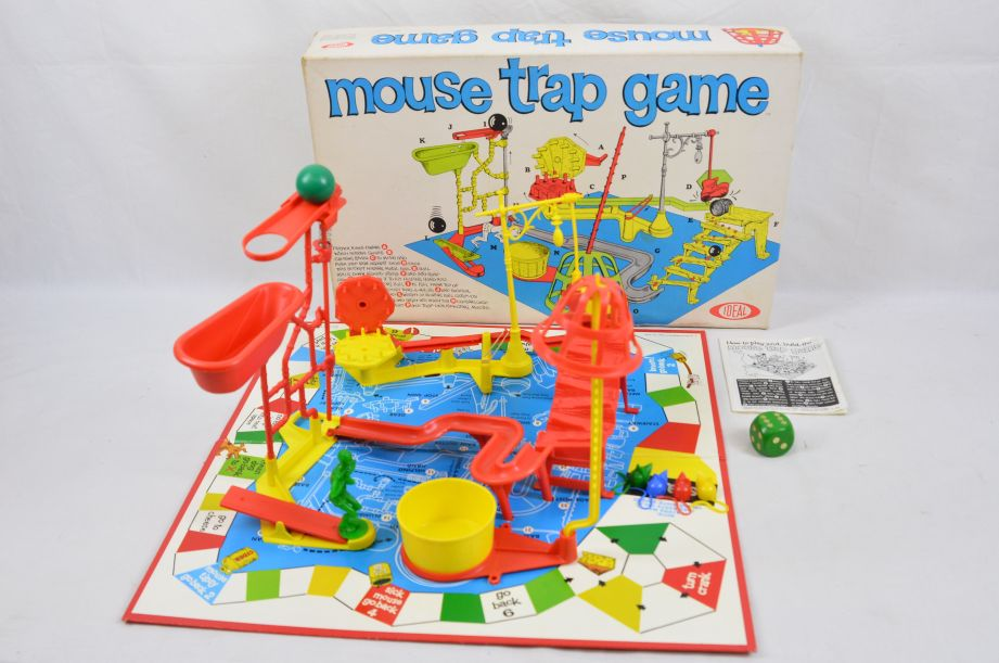 Vintage 1960s Mouse Trap Game by Ideal Toy Company 1963